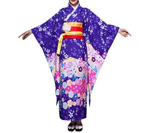 Elegante Damas Arco Patrón Camisón Decoración Fashionista Vintage Albornoz Kimono Farbe2 Floral Poliéster Y Targogo vqBZF