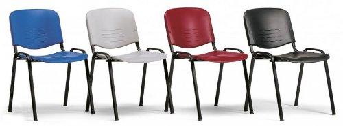 KARISMA - ISO NEW A, Sedia In Plastica Casa / Ufficio / Attesa / Scuola / Bar, Blu Eurotekna