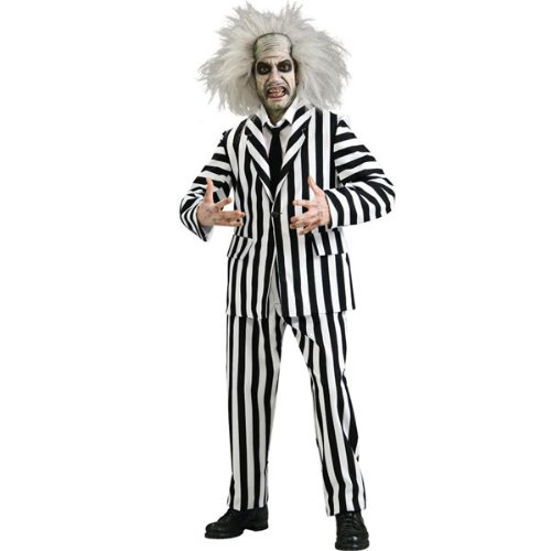 [Rubies Grand Heritage Deluxe Adult Bettlejuice Costume - Standard | 56216] (Beetle Juice Wig)