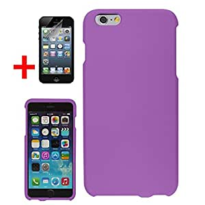 "APPLE IPHONE 6 PLUS 5.5"" PURPLE RUBBERIZED PLASTIC SNAP ON COVER HARD PROTECTOR CASE + SCREEN PROTECTOR from Preferred Fashion Network"