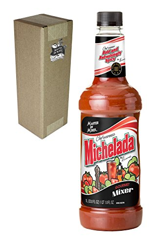 Master of Mixes Michelada Drink Mix, Ready To Use, 1 Liter Bottle (33.8 Fl Oz), Individually Boxed