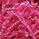 ABC Deluxe Crinkle Cut Paper Shreds, Hot Pink Filler For Gift Baskets - 10 lb.