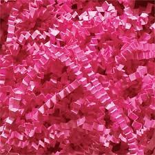 ABC Deluxe Crinkle Cut Paper Shreds, Hot Pink Filler For Gift Baskets - 10 lb. by Deluxe Well-Designed