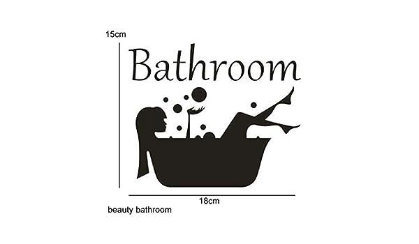 Amazon.com: Batop 3D Mirror Sticker - Funny WC Toilet Door Entrance Sign Men Women - Bathroom DIY Wall Sticker Decals Bar Home Decor (Beauty Bathroom): Home ...