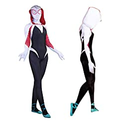 Halloween Unisex Lycra Spandex Into The Spider Verse Gwen Stacy Zentai Cosplay Costumes Adultkids 3d Style
