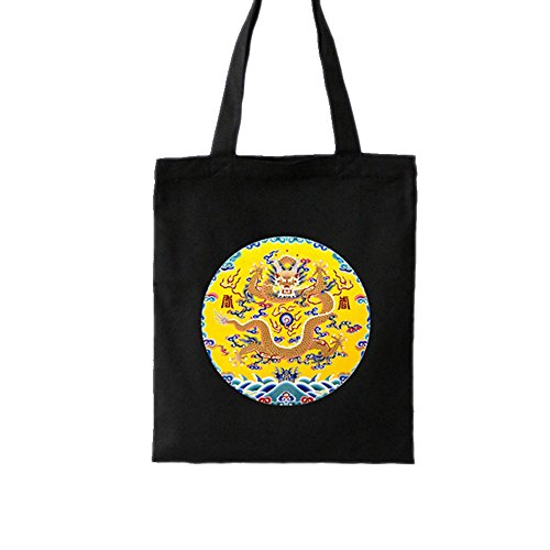 FLYING BALLOON Imperial Robe and Red-Crowned Crane Pattern Canvas Shoulder Bags Handbags for -