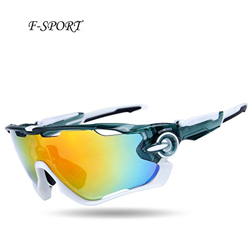 F-sport 2016 Newest Outdoor Sports Fashion Sunglasses.Great For Cycling Driving Hiking Skiing or Fishing.Changeable Lenses and Unbreakable High strength(Grey)