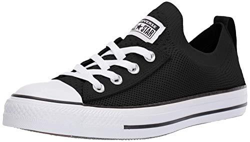Converse Women's Chuck Taylor All Star Shoreline Knit Slip On Sneaker, White/Black, 7.5 M US