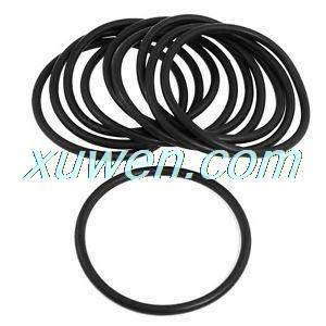 Mercury_Group Gaskets, 10 Pcs 80mm X 5mm Black NBR Nitrile Rubber O Ring Oil Seals