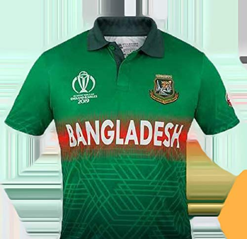 Aristocrat Bangladesh Cricket Team Official Jersey ICC World Cup 2019 -Original Quality (Green, Large (Chest 42 inch X Length 29 inch) (Best World Cup Jerseys)