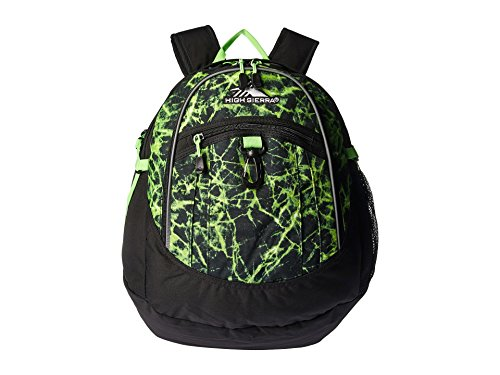 High Sierra Fat Boy Backpack, Lime Fire/Black/Lime