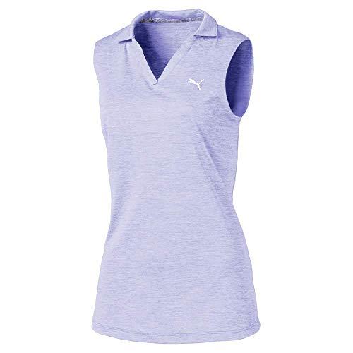 Puma Golf Girls 2019 Heather Polo, Sweet Lavender, Medium - Girls Golf Polo