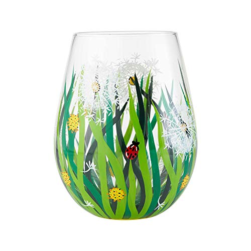 Enesco 6004352 Designs by Lolita Dandelion, 20 oz. Stemless Wine Glass 20 Ounces Multicolor