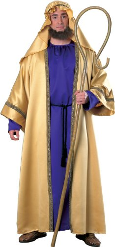 Joseph Costume For Christmas Play (Rubies Men's Biblical Joseph Costume, Adult, Purple/Gold, One Size)