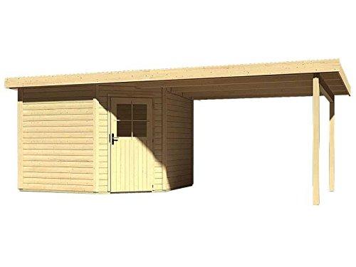 Karibu Woodfeeling Gartenhaus Neuruppin 3 natur mit Schleppdach 3,00 Meter
