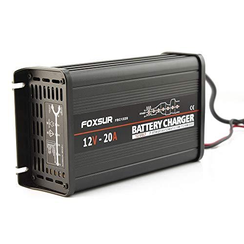 ZMM Coche Jump Starter Auto Cargador de batería 12V 20A 7-Stage Smart Plomo ácido Cargador de batería 12V Coche Batt