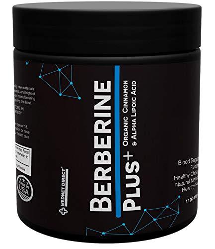 Berberine Plus 500 mg Blood Sugar Support, Healthy Cholesterol, Weight Control Metabolism, Supplement with Alpha Lipoic Acid & Organic Cinnamon 120 Capsules