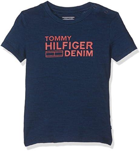 Tommy Hilfiger Jungen D Indigo Cn Tee S/S T-Shirt