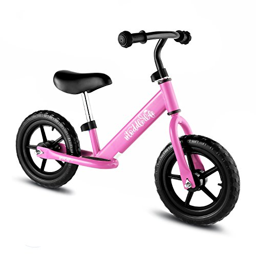 BIKFUN Balance Bike for Kids, No Pedal Traning Children Cycles with Adjustable Handlebar and Seat,...