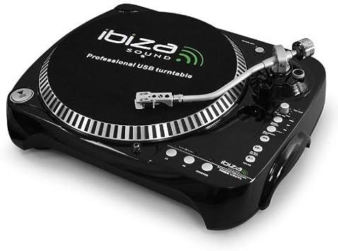 Ibiza Free Vinyl Tocadiscos USB SD grabación MP3: Amazon.es ...