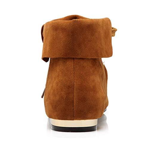 Up Up Boots Mocassion Giallo Donne Lace Zanpa Casual qtwXfn8