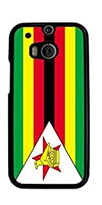 flag of Zimbabwe Hard Case for HTC ONE M8 ( Sugar Skull ) by mcsharks