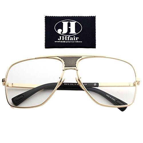JHfair Brand Designer Large Square Aviator Fashion Mens - Designer Male Sunglasses