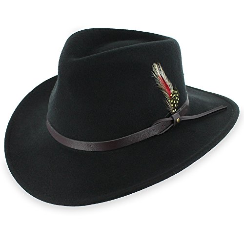 Galleon - Belfry Expedition - Men s 100% Crushable Wool Felt Outback Fedora  Hat (Large 5f5b03dec4a