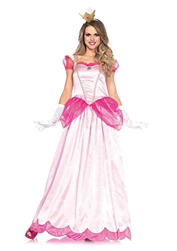 Mario Luigi Womens Halloween Costumes (Leg Avenue Women's Classic Pink Princess,)