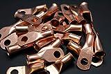 4 Gauge Copper 1/4 Ring 25 PK Crimp Battery Lug