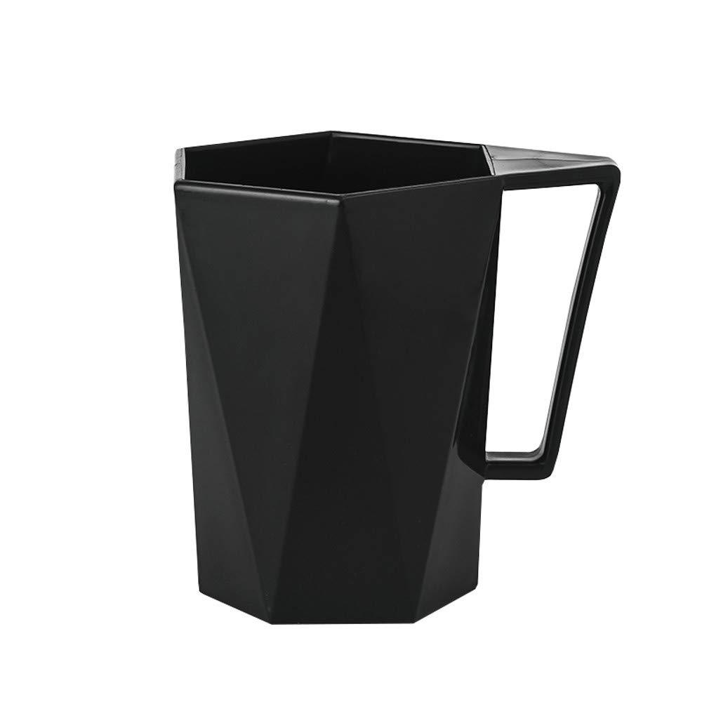 Dingji Cup, Novelty Cup Personality Milk Juice Lemon Mug Coffee Tea Reusable Plastic Cup (Black)