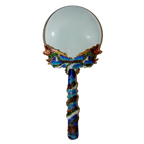 Magnifying Glass – Blue Cloisonné Dragon Handle – Great Business Gift