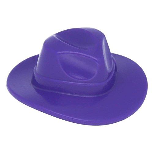 (LEGO Batman - Dark Purple Minifig Headgear Hat, Wide Brim Outback Style (Fedora) x1 Loose)