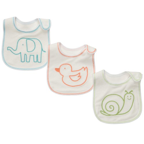 Carter's Unisex Baby 3-Pack Teething Bibs - Neutral - One Size