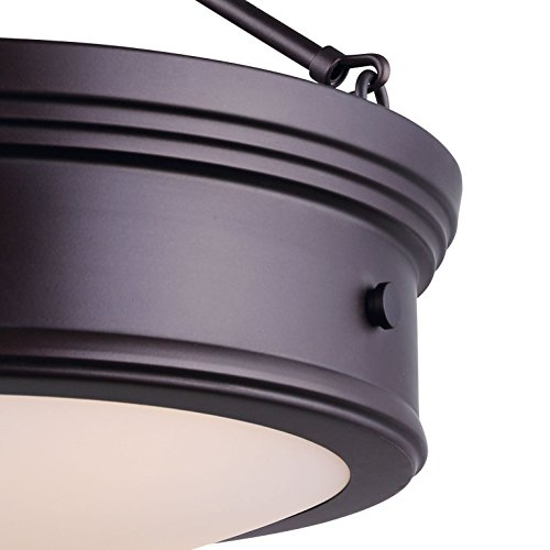 Canarm LTD ISF624A03ORB Boku ORB 3 Bulb Semi-Flush Mount Oil Rubbed Bronze with Flat Opal Glass by Canarm (Image #4)