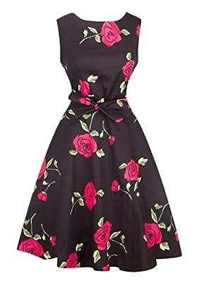 Angerella Retro Vintage 50s Party Cocktail Dresses Sleeveless Dress