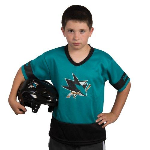 Halloween Costumes San Jose (Franklin Sports NHL San Jose Sharks Youth Team Set)