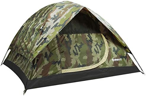 GigaTent Camouflage Dome 3-4 Person Camping Pop-Up Tent Spacious, Lightweight, Heavy Duty Weather and Flame Resistant Outdoor Hiking Gear Fast, Easy Setup 7 x7 Floor, 52 Height
