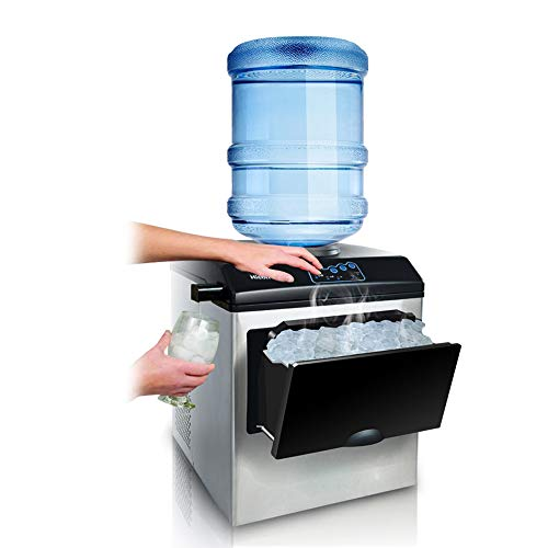 Ice Machine – Fully Automatic Household/Commercial/Desktop/Portable/No Pipeline/Fast Ice Machine/Water Cooler, Daily…