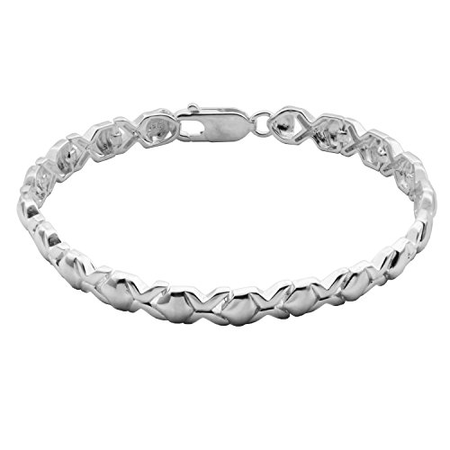 Morgan & Paige Sterling Silver XOXO Hugs and Kisses Tennis Bracelet, 7