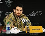 Adam McQuaid Boston Bruins Signed autographed Army Jacket Playoff hero 8x10