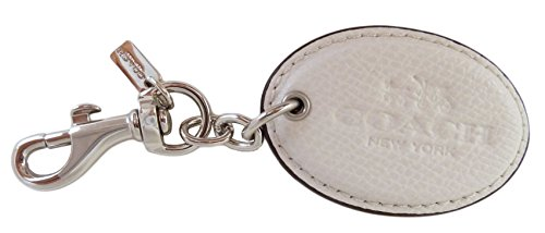 Coach Hangtag Leather Signature Oval Cream F63382SVHA