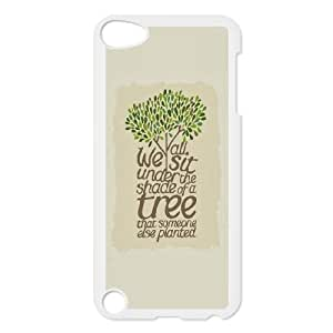 iPod Touch 5 Case White quotes sit under the shade of a tree LSO7926168