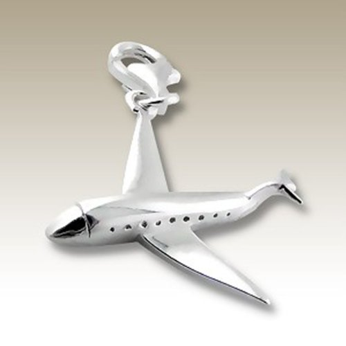 Sterling Airplane Charm - 4
