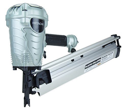 Hitachi NR90AES1 Framing Nailer, 2-Inch to 3-1/2-Inch Plastic Collated Full Head Nails, 21...