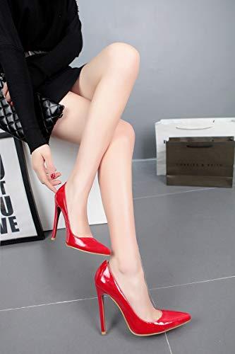 Club Fatto Aguzza Alti d 39eu Strass Per La Wild Banchetti Super Mano Tacco Tacchi Night Nuova Adong Alto Sexy Superficie Signora Womens Vernice A Pu wvxEfOABqn