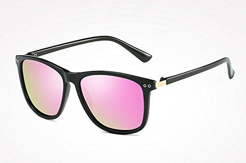 Moda de de Gafas de Negro Calidad Espalda de Gafas Sol Mujer Gafas Sol Sol TL Sunglasses black polarizadas Gris Alta pink Espejo Hombre Masculino Femenino Tqwvvf