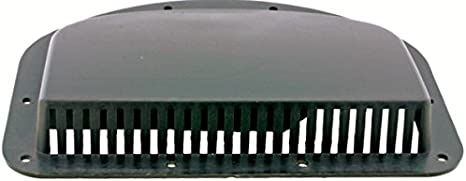 Kaper II L12-0019 White Fits 3 hole Trailer Vent Cover,1 Pack