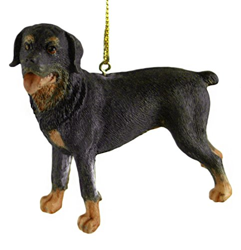 - Rottweiler Resin Dog Hanging Christmas Ornament