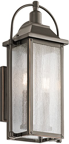 - Kichler 49714OZ Harbor Row Outdoor Wall Sconce, 2 Light Incandescent 120 Total Watts, Olde Bronze